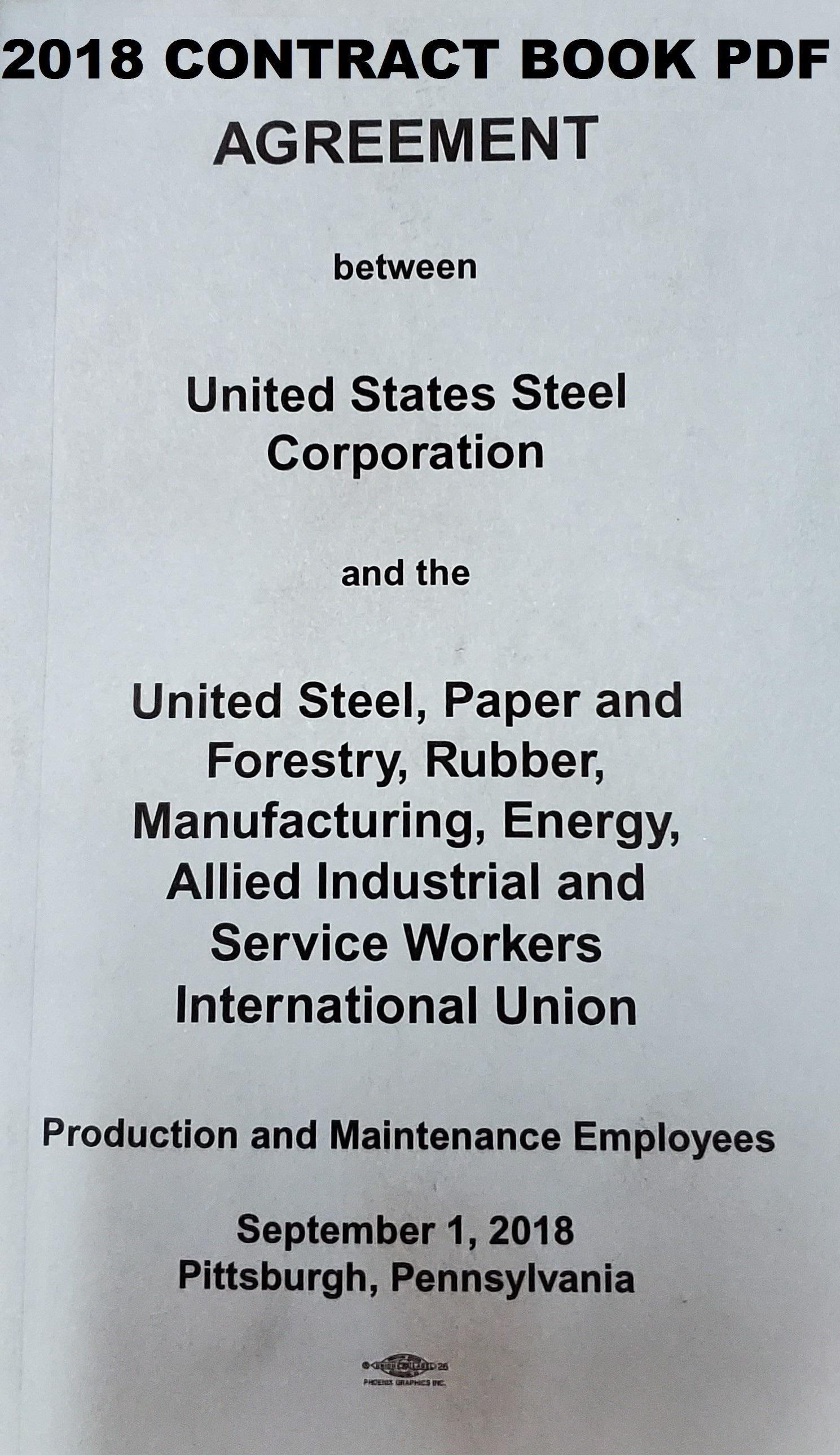 USW / US STEEL CONTRACT BOOK